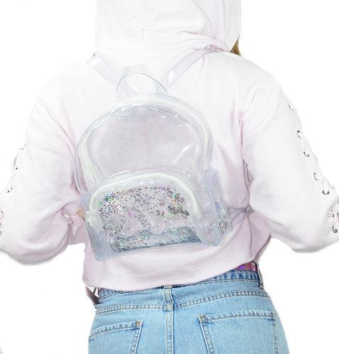 Liquid Glitter Mini Backpack - Atomic Silver