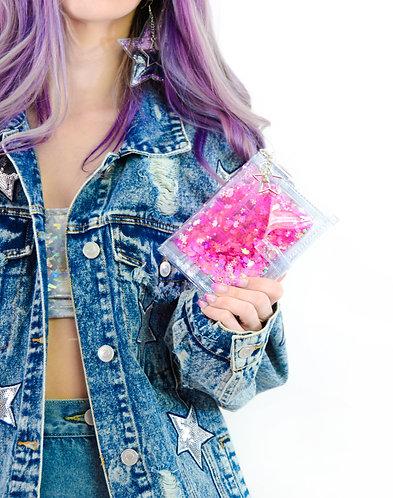 Liquid Glitter Mini Wallet - Sparkling Unicorn