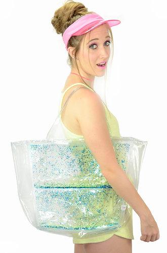 Liquid Glitter Tote Bag - Mermaid