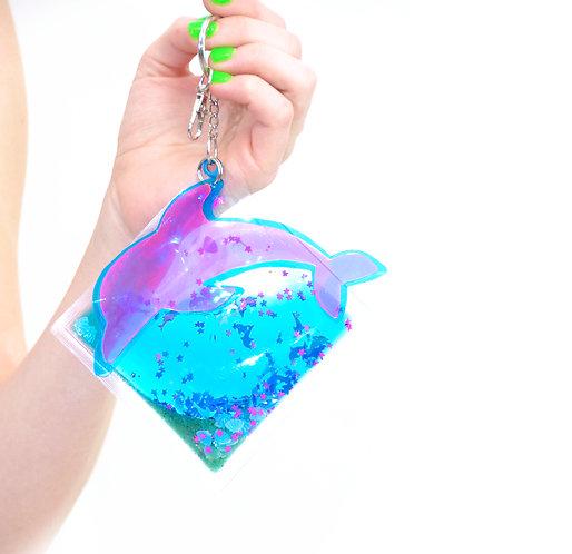 Liquid Glitter Keychain - Under the Sea