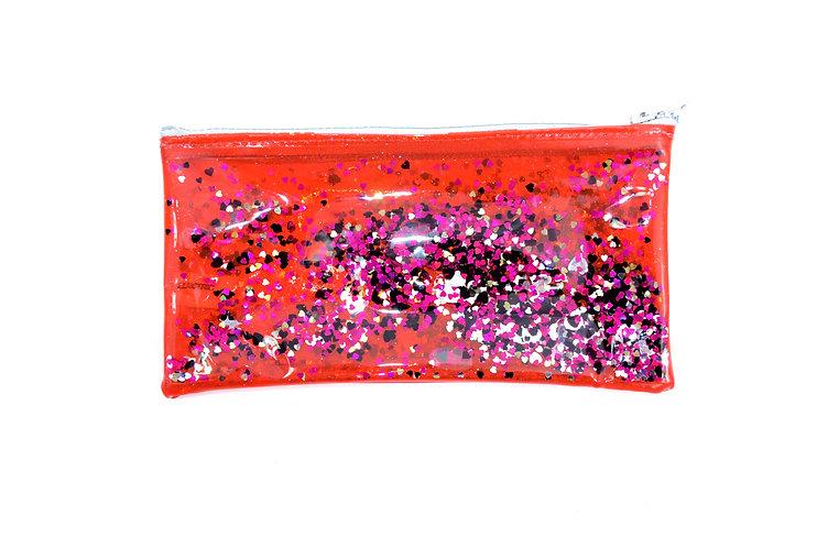 Liquid Glitter Pencil Case - You Know You Love Me