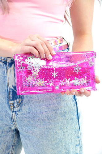 Sugar, Spice, and Everything Ice - Liquid Glitter Wallet
