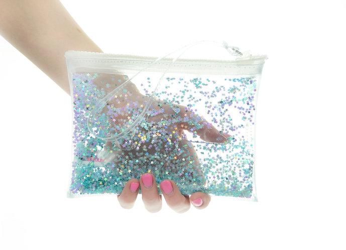 Liquid Glitter Wristlet - Sparkling Blue