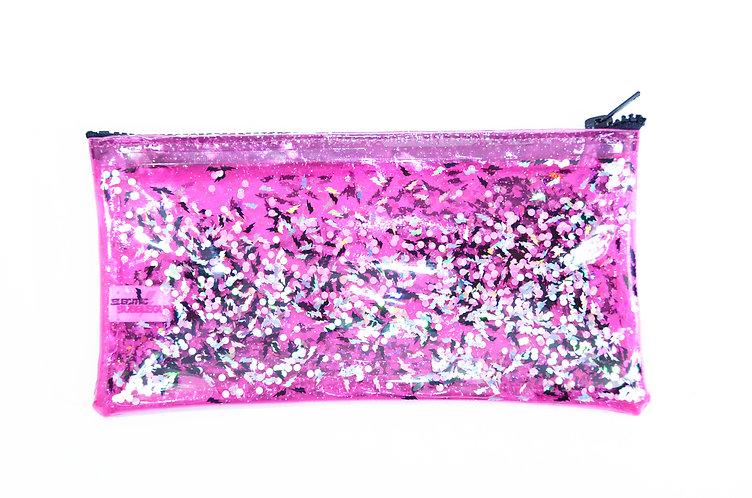 Liquid Glitter pencil Case - Electric Bubblegum