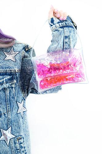 Liquid Glitter Mini Purse - Sparkling Unicorn