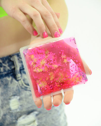 Liquid Glitter Sparkle Square - Summertime - Stress Relief Object