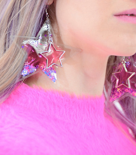 Liquid Glitter Earrings - You Go Girl
