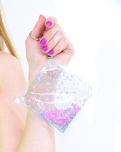 Liquid Glitter Keychain - Pink Unicorn