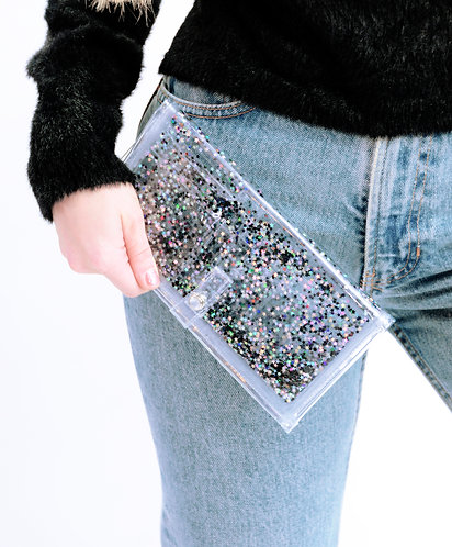 Liquid Glitter Wallet - Midnight Glam