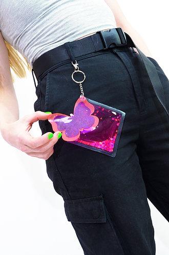 Liquid Glitter Keychain - Springtime