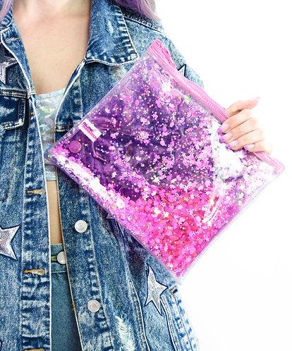 Liquid Glitter Make Up Bag - Sparkling Unicorn