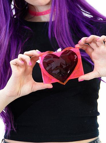 Dark Hearts Cardholder with Liquid Glitter