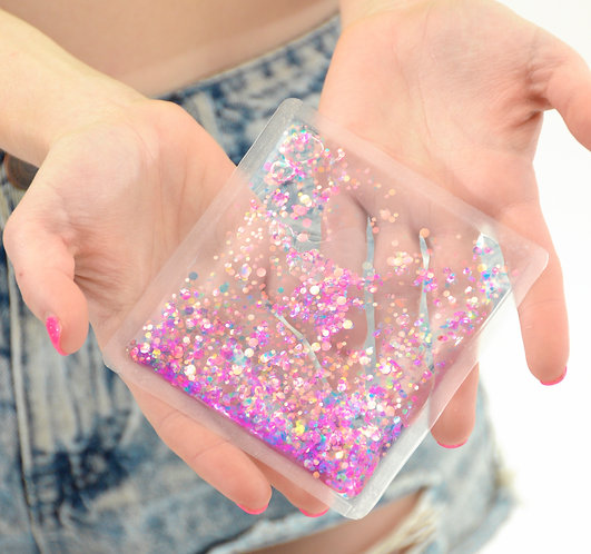 Liquid Glitter Sparkle Square - Cosmic - Stress Relief Object