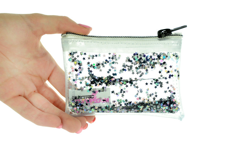 Liquid Glitter Coin Purse - Midnight Glam