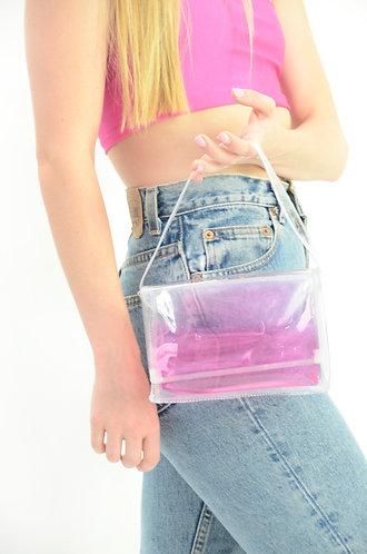 Pink Liquid Mini Purse