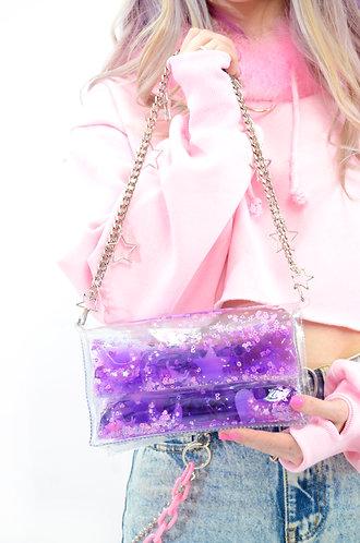 Liquid Glitter Mini Purse - Sugar Pop Purple