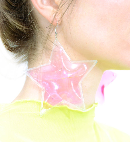 Liquid Star Earrings - Pink