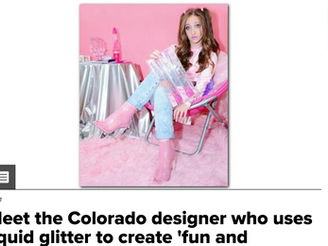 9NEWS: Meet the Colorado designer who uses liquid glitter to create 'fun and fearless' fashi