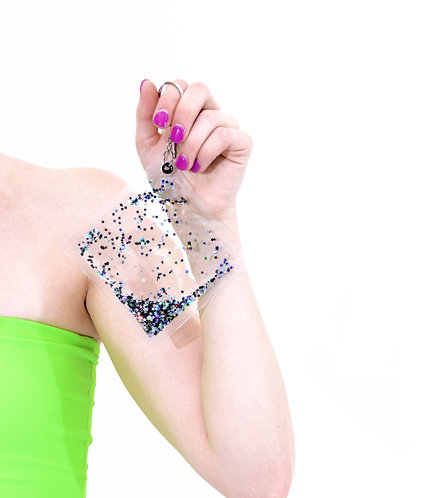 Liquid Glitter Keychain - Midnight Glam