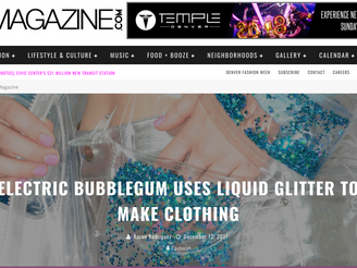 303 MAGAZINE - Electric Bubblegum Uses Liquid Glitter to make Clothing