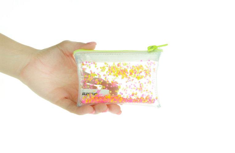 Liquid Glitter Coin Purse - Neon