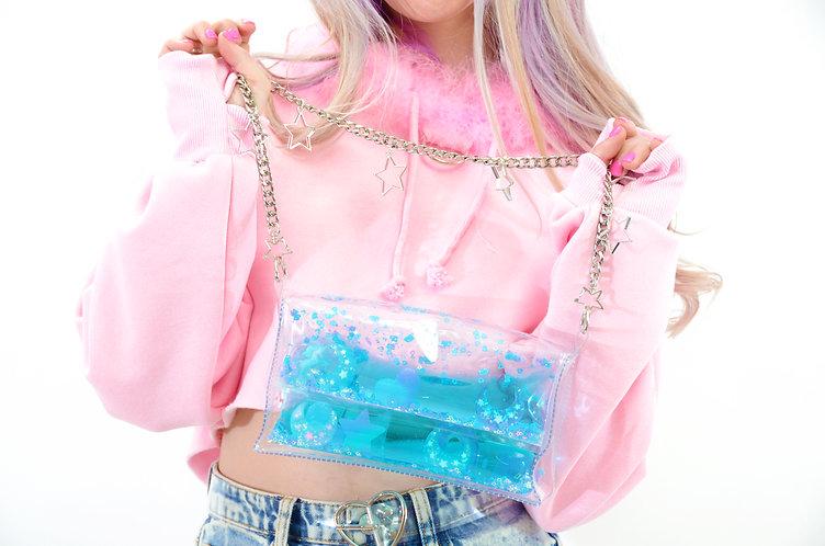 Liquid Glitter Mini Purse - Sugar Pop Blue