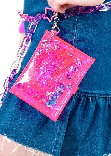 Liquid Glitter Mini Wallet -You Go Girl