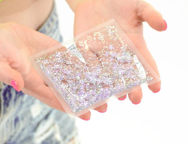 Liquid Glitter Sparkle Square - Sparkling Purple - Stress Relief Object
