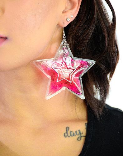 Glitter Goo Star Earrings - Starbright