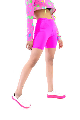 Neon Pink Biker Shorts