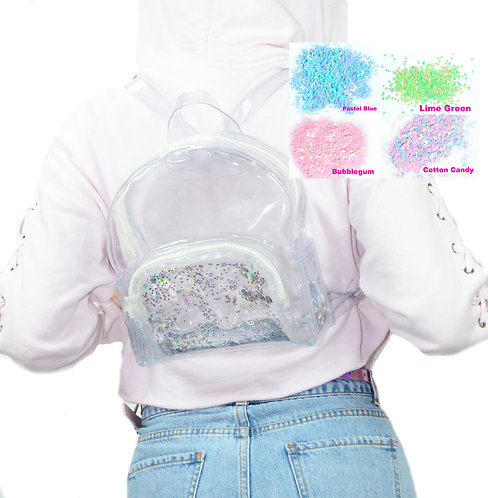 Custom Color - Liquid Glitter Mini Backpack