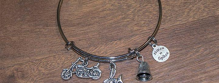 Bikes n Spikes logo Charm Bracelet