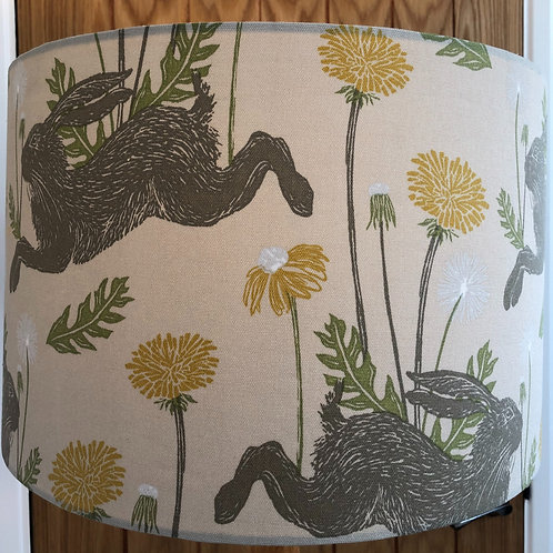 Marching Hare Print Shade