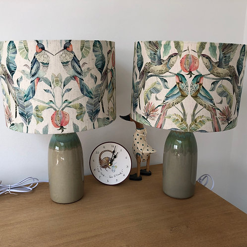 Green Bottle shaped Ceramic Lamp Base