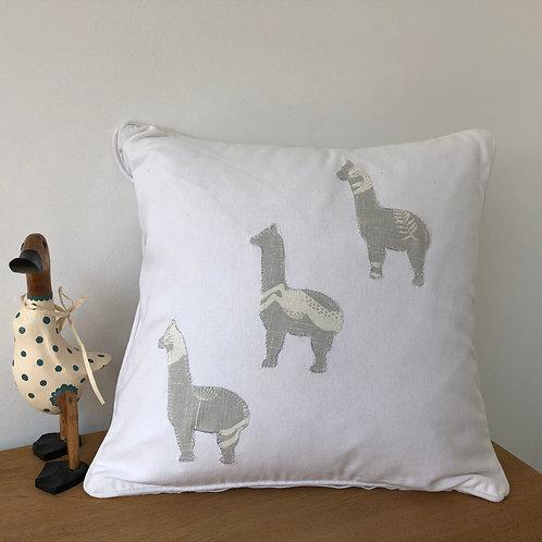 Appliquéd Alpaca Cushion