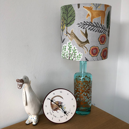 Gin Bottle Lamp and Shade