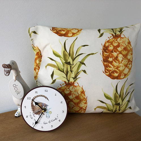 Pineapple and Palm Button Close Cushion