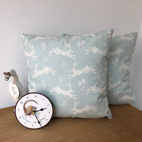 Leaping Hare Print Cushion Covers