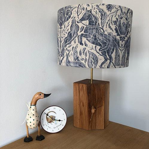 Beautiful Reclaimed Oak Block Lamp Base