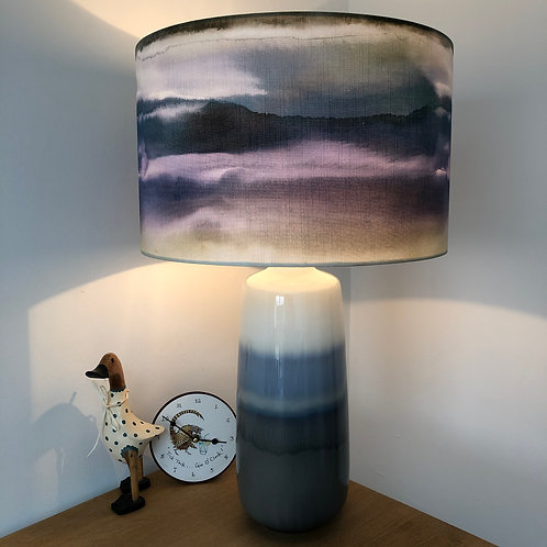 Blue Toned Ceramic Lamp Base
