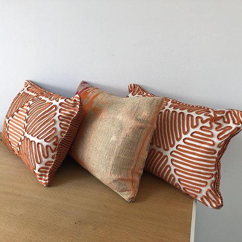 3 Small Bolster Cushions
