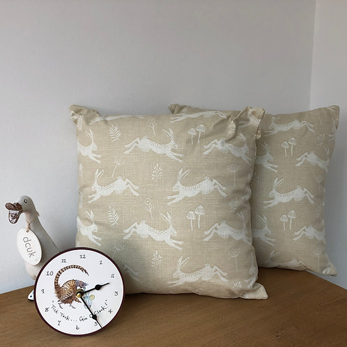 Leaping Hares Print Cushion Covers