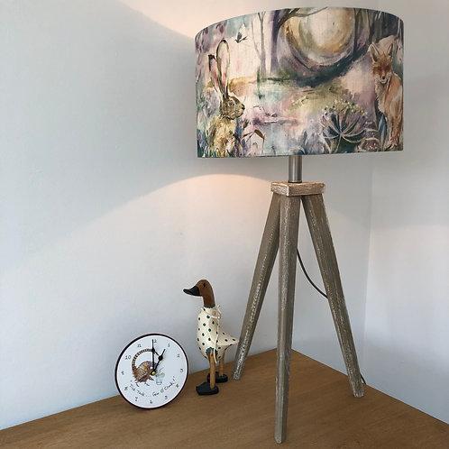 Tripod Wash effect wooden lamp base