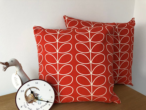 Orla Kiely Orange Cushion Covers