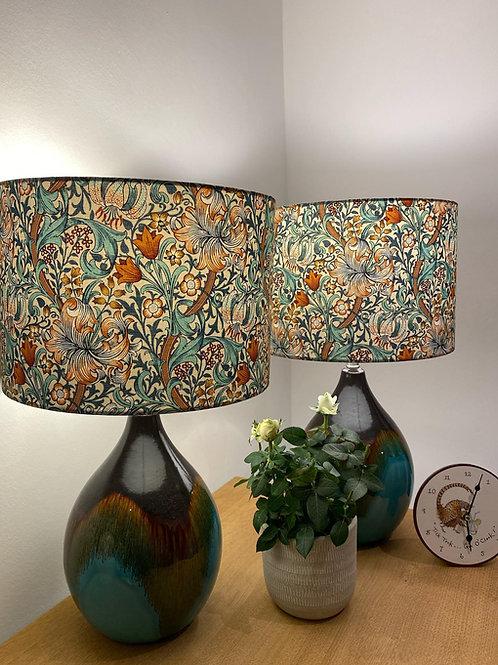 Ceramic glaze lamp base
