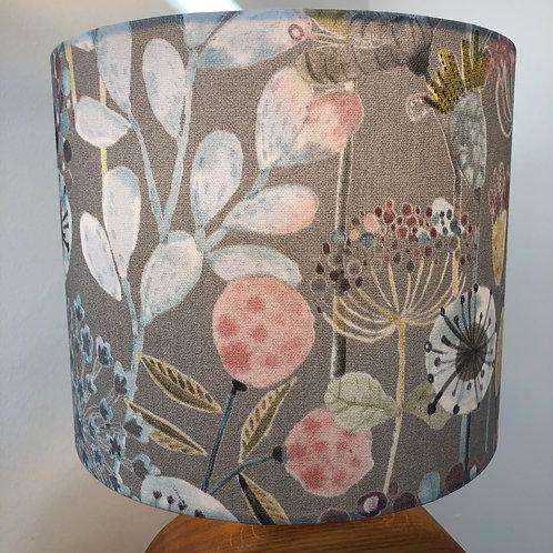 Grey Floral Design Shade