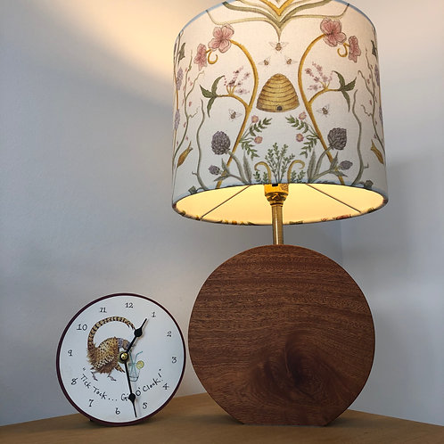 Round Mahogany Base with Brass fittings