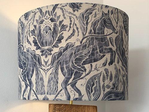 Celtic Horse Linen Fabric Shade