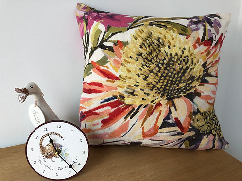 Big Flower Linen Cushion
