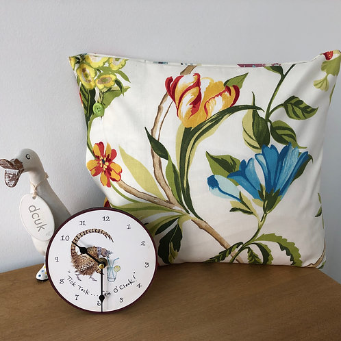 Floral Cushion with Button Close